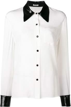 Miu Miu sequin collar shirt