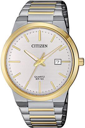 Citizen Men Quartz Two-Tone Stainless Steel Bracelet Watch 39mm