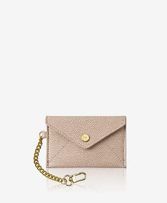 GiGi New York Mini Envelope with Clip Shagreen Leather