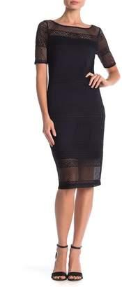 Three Dots Ringer Lace Midi Dress