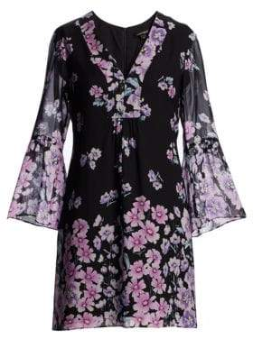 Nanette Lepore Revel Silk Floral Print Dress