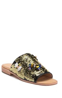 Bill Blass Niki Low Sequin Slide Sandals (Women)