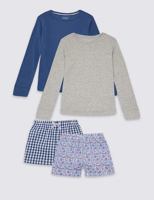 Marks and Spencer 2 Pack Short Pyjamas (3-16 Years)