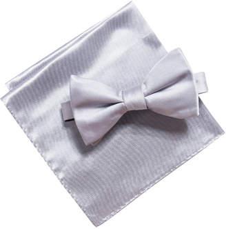 Alfani Men Satin Solid Bow Tie & Pocket Square Set