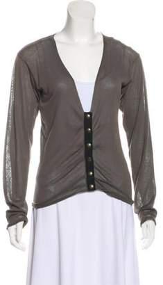 Lanvin Pleated Knit Cardigan Grey Pleated Knit Cardigan