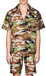 Landlord Men's Camouflage & Plaid Cotton Twill Shirt Size M