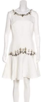 Marchesa Embellished Flounce Dress