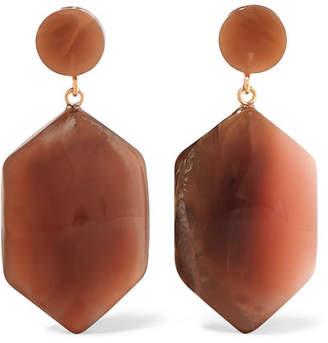 Valet - Natalia Resin Earrings - Brown