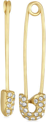 Rachel Roy Gold-Tone Pave Safety Pin Drop Earrings