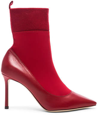 Jimmy Choo Brandon Boot in Red & Red | FWRD