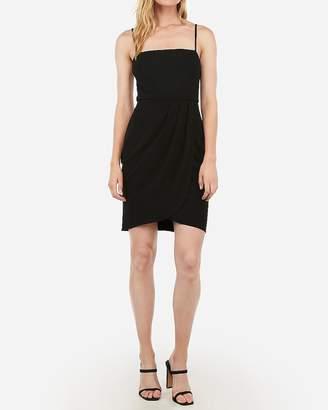 Express Pleated Wrap Front Mini Sheath Dress