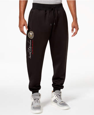 Heritage America Men's Tricot Stripe Embroidered Track Pants