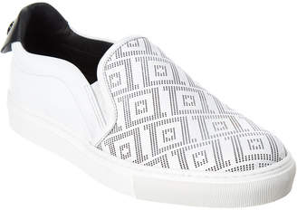 Versace Greca Leather Slip-On Sneaker