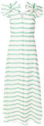 DELPOZO striped flared maxi dress