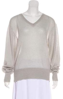 Wildfox Couture V-Neck Long Sleeve Sweater