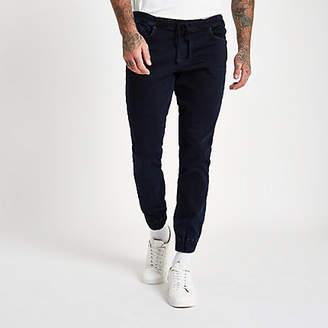 River Island Dark blue Ryan denim jogger jeans