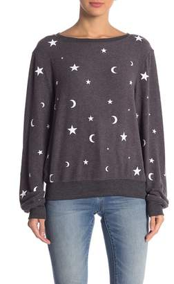 Wildfox Couture Essential Moon & Stars Pullover