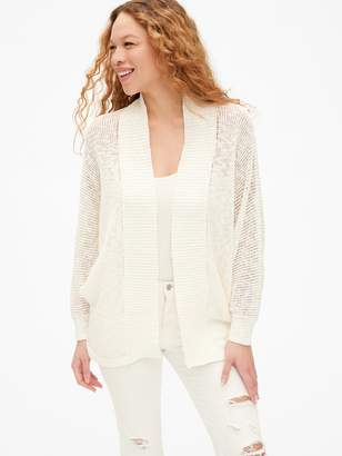 Gap Open-Stitch Cocoon Cardigan Sweater