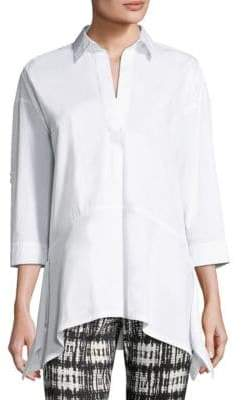 Donna Karan Trapeze Cotton Top