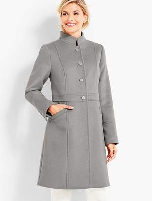 Talbots Military-Style Stand-Collar Coat