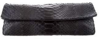 Bottega Veneta Python Flap Clutch