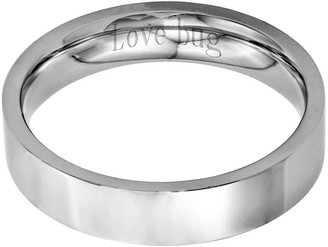 Steel By Design Stainless Steel 5mm Flat Polished Engravable Ring