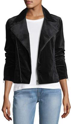 AG Jeans Quincy Zip-Front Velveteen Biker Jacket