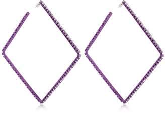Area Dewi Crystal Square Hoop Earrings
