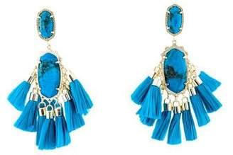 Kendra Scott Aqua Howlite Tassel Drop Earrings