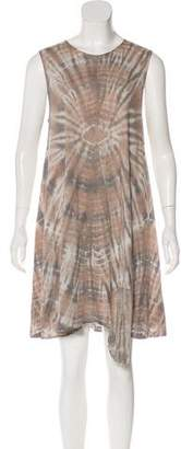 Raquel Allegra Distressed Knee-Length Dress