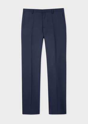 Paul Smith Men's Slim-Fit Light Navy Wool 'A Suit To Travel In' Pants