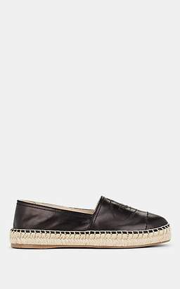 Prada Women's Logo Leather Espadrilles - Nero