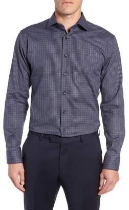 Nordstrom Trim Fit Non-Iron Plaid Dress Shirt