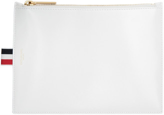 Thom Browne White Large Coin Pouch $450 thestylecure.com