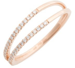 Women's Bony Levy Diamond Two Row Ring (Nordstrom Exclusive) $1,095 thestylecure.com