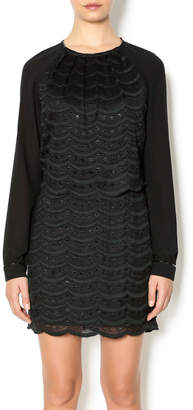 Greylin Liza Scallop Lace Dress