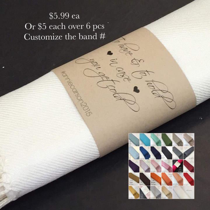 Etsy Pashminas 6 pcs. Handmade- Any color- Pashminas Bridesmaids -pashmina shawl - pashmina as a favor -