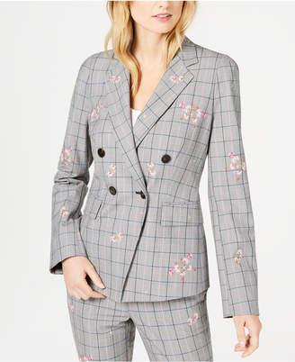 Marella Taiga Plaid Embroidered Jacket