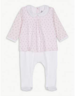 Petit Bateau Lace collar cotton blouse bodysuit newborn-12 months