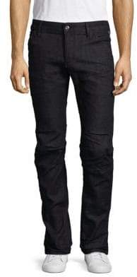 G Star Five-Pocket Medium-Rise Deconstructed Jeans