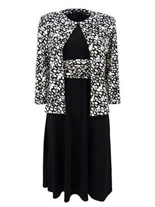 Jessica Howard Women's Petite 3/4 Sleeve Jacket Dress