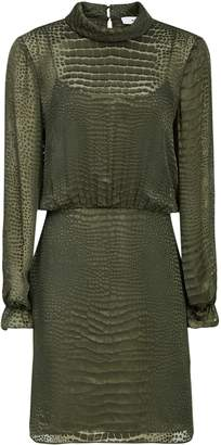 Reiss Renata Burnout Snake Pattern Dress