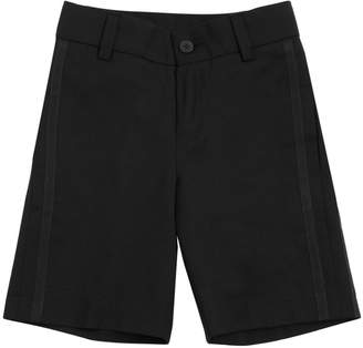 Givenchy Wool Shorts With Grosgrain Details