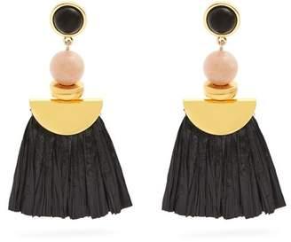 Lizzie Fortunato Hula Ii Fringe Drop Earrings - Womens - Black