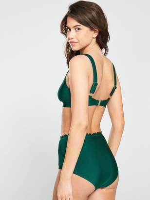 27b8014e1d4 South Beach Scallop Bikini with High Apex Top and High Waist Brief - Green
