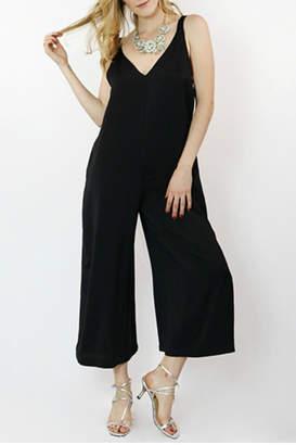 Hashttag Sleeveless Black Jumpsuit
