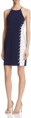 Parker Florence Eyelet-Laced Two-Tone Dress $315 thestylecure.com