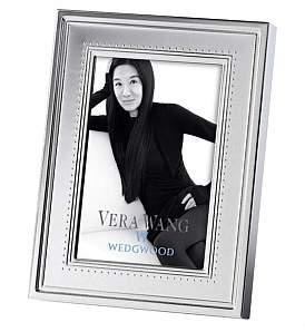 "Wedgwood Vera Wang Grosgrain Silver Frame 4""X6"""