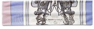 "Hermes Brides De Gala"" Silk Headband"