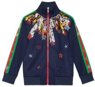 Gucci Children's sweatshirt with shooting stars